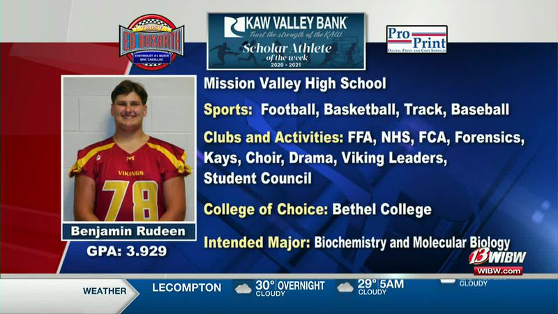 Scholar-Athlete of the Week: Mission Valley's Benjamin Rudeen