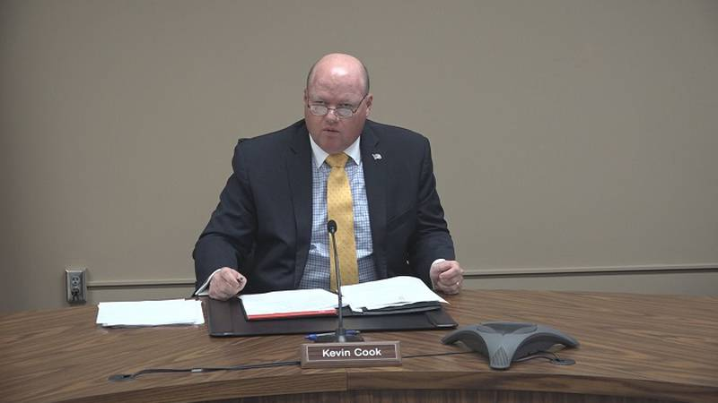 Shawnee Co. Commission Chair Kevin Cook said he is encouraged by lower COVID-19 case numbers...