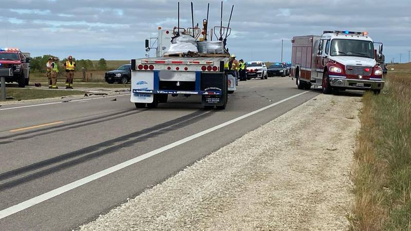 KHP closed US-56 south of Herington after a fatal accident involving two vehicles early Friday...