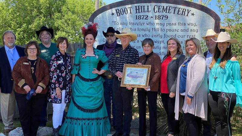 Governor Laura Kelly is named an Honorary Marshal at the Boot Hill Museum in Dodge City on...