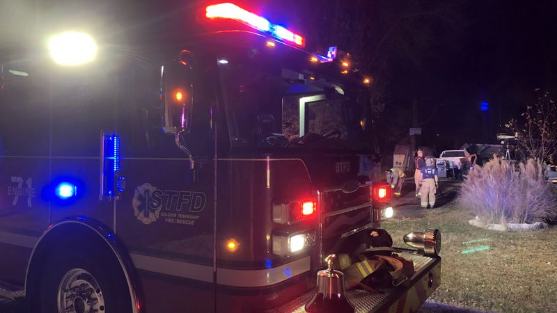 Crews from the Soldier Township Fire Department and Silver Lake Fire Department responded to an...