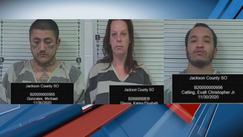Michael Gonzales, Katrina Glaspie and Evalt Catling Jr. were arrested following a Monday...