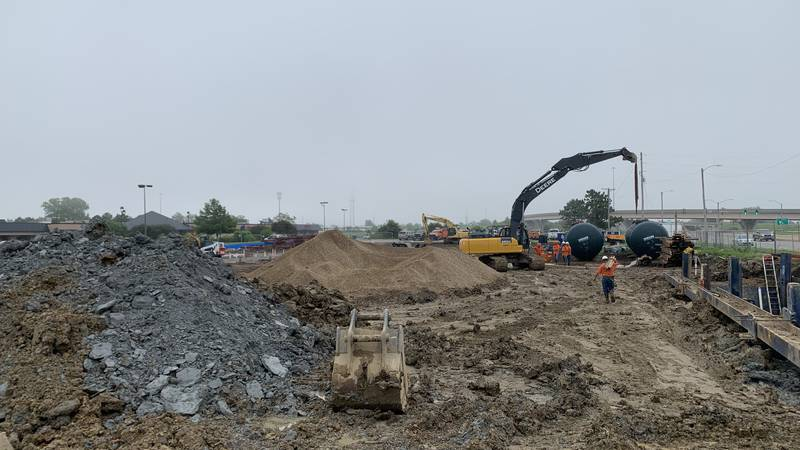 Work was continuing Friday on what is reported to be a new Kwik Shop at S.W. 37th and...