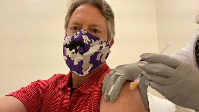 Congressman and Senator-elect Roger Marshall received the COVID-19 vaccine on Saturday.