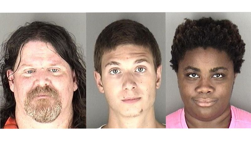 Officers arrested Lakeisha Marie Ray, Michael Eugene Bennett, and August Osborn, and booked the...