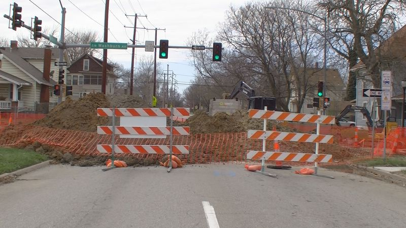 12th St. from S. Kansas to SW Washburn construction project for the City of Topeka. (March 30,...