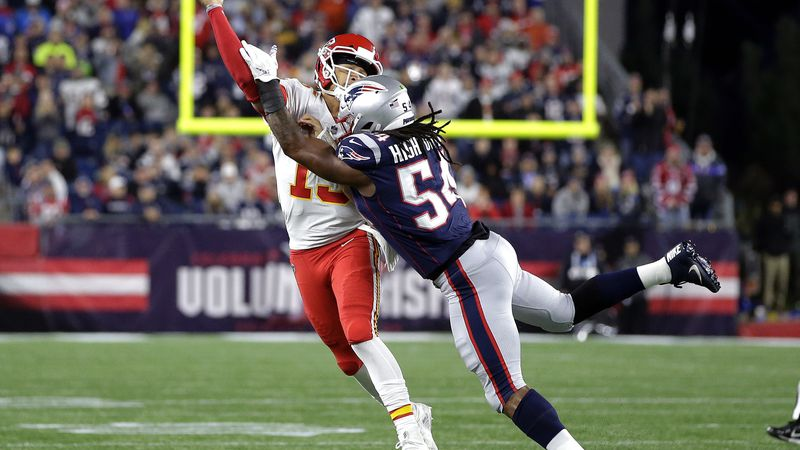 FILE - In this Sunday, Oct. 14, 2018, file photo, New England Patriots linebacker Dont'a...
