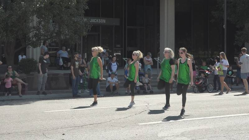 Dancers at the Topeka Halfway to St. Patty's Day Parade