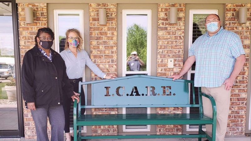 ( L-R )  Vickie Bobbitt, I.C.A.R.E. Executive Director, Melissa Tyson, Director of Marketing,...