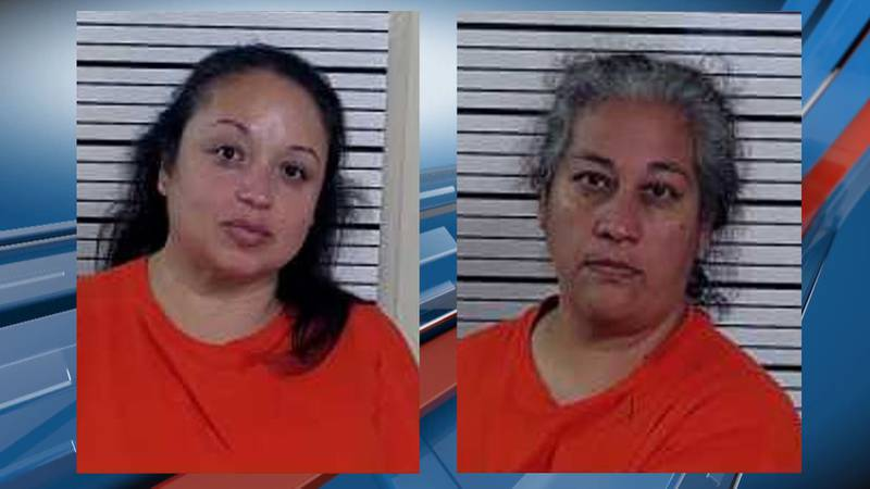 The Pawnee County Sheriff's Office arrested Liliana Houser (left), and Rachel Perez (right) who...