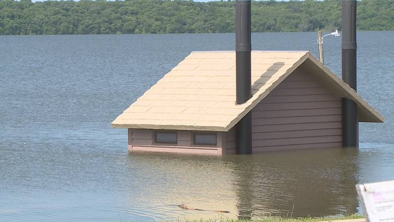 FILE - Lake Perry flooding