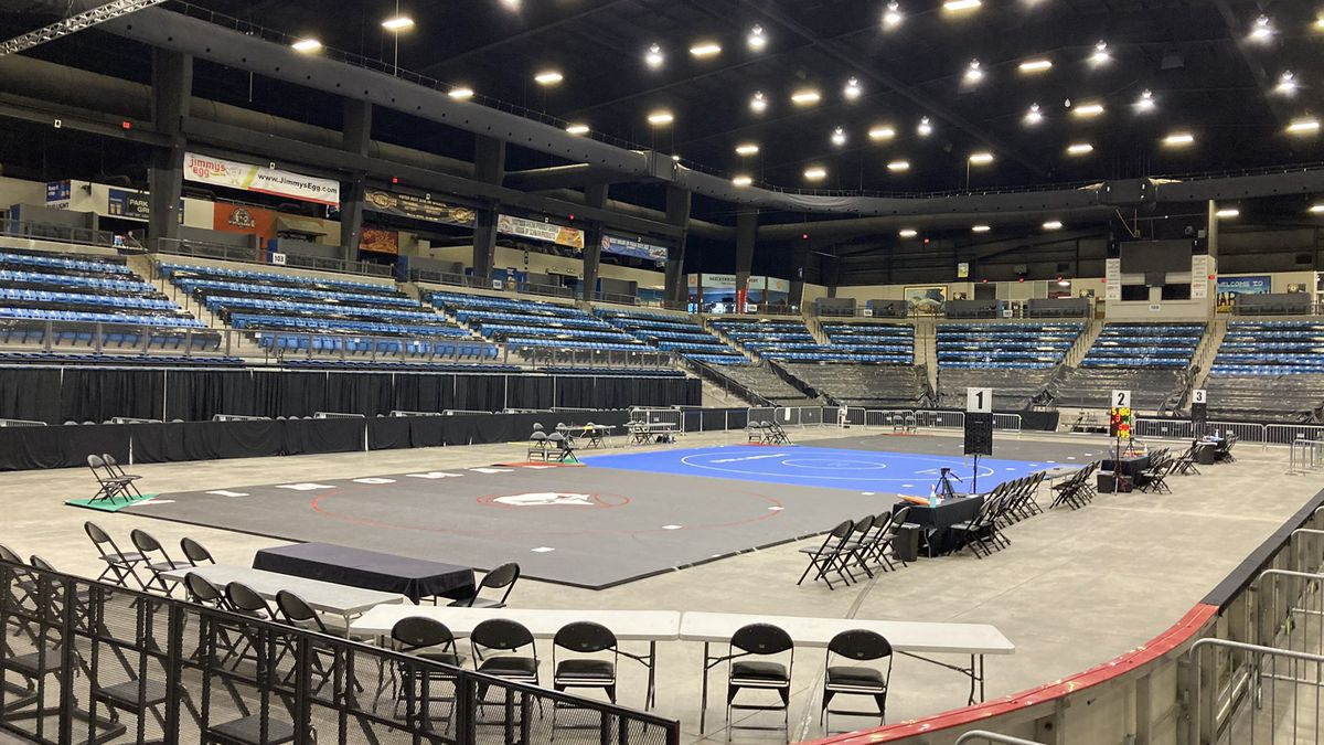 Wrestlers competed for the 6A Boys State Wrestling Championship from the Hartman Arena.