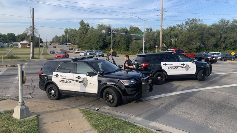 Topeka police responded to a car-pedestrian collision around 4:45 p.m. Friday in the southbound...