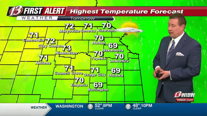 70s with high fire danger on Friday