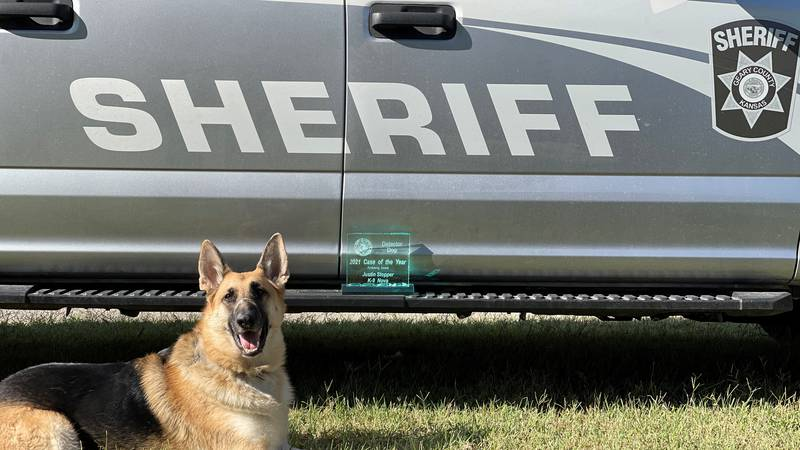 Geary Co. K9 Nova received a national award for her role uncovering 95 pounds of meth during a...