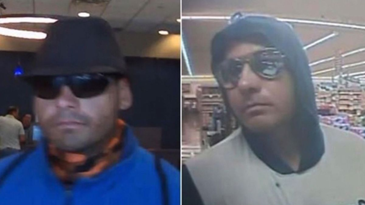 Police said a suspected bank robber in California made his getaway on an electric scooter. (Source: KGTV/FBI/CNN)