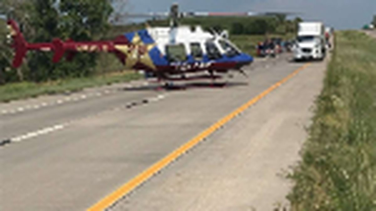 Victim of accident near Junction City is life flighted to a Topeka hospital on Friday, July 30,...