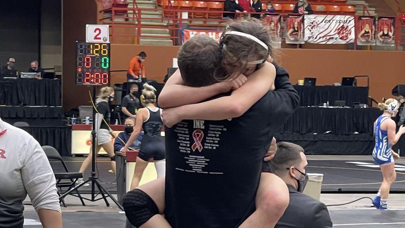 Rossville's Hurla wins first girls wrestling title in school history