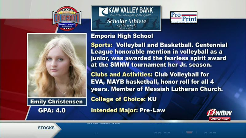 Scholar-Athlete of the Week: Emporia's Emily Christensen
