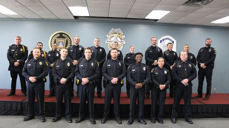 Twelve new officers joined the Topeka Police Department this week.