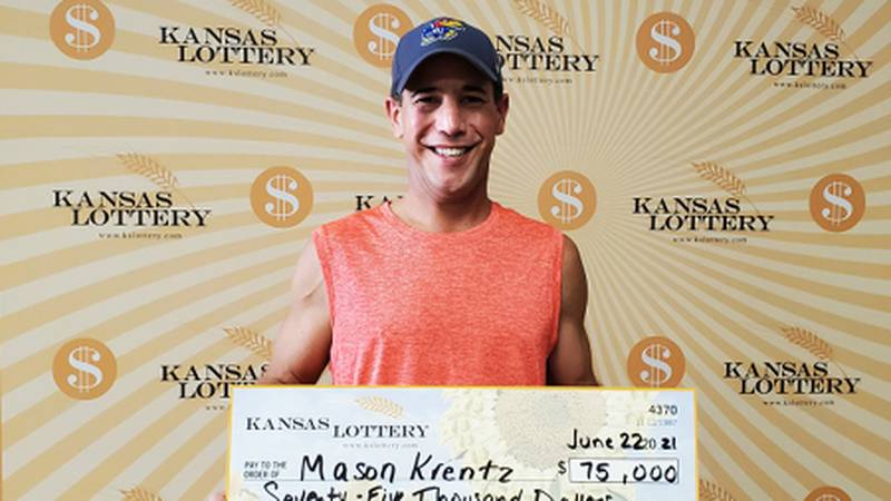 Mason Krentz won $75,000 from a lottery ticket he bought at a gas station in Topeka.