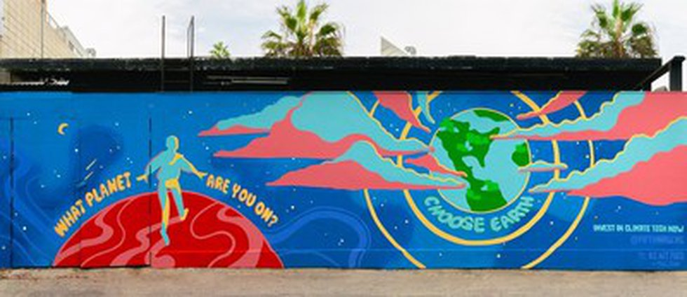 Located at 6 Rose Avenue in Los Angeles' Venice neighborhood, the mural features a whimsical...