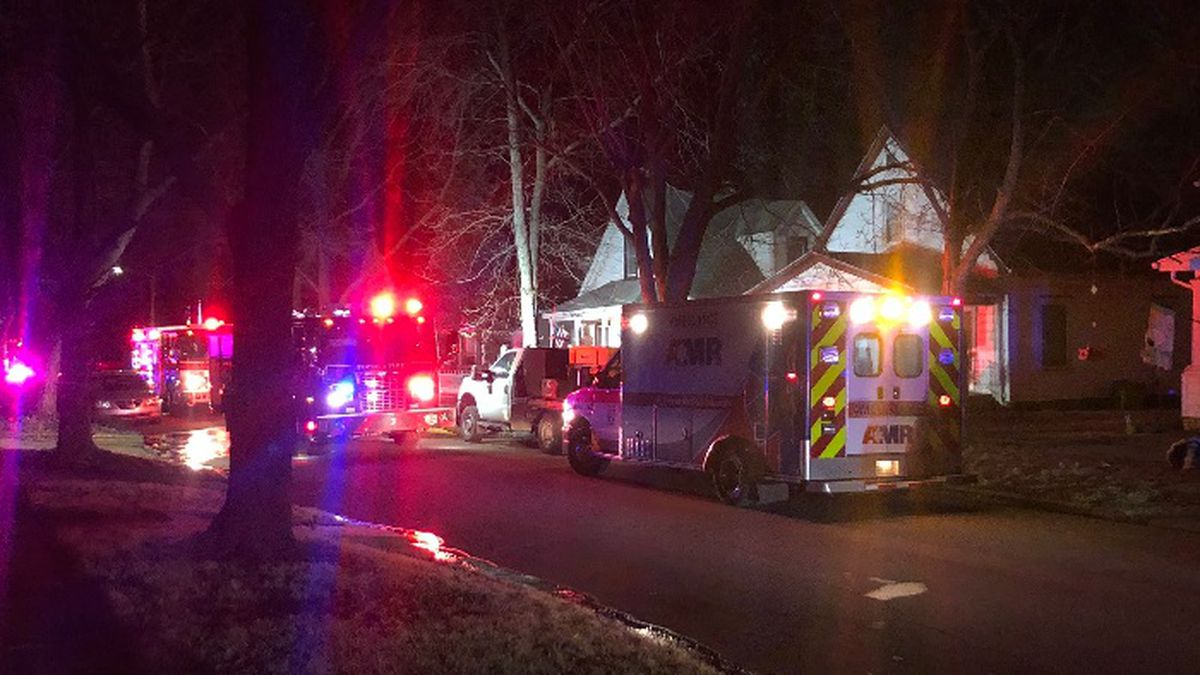 Topeka Fire crews were responding to a home at 321 SW Orchard St., March 2, 2021.