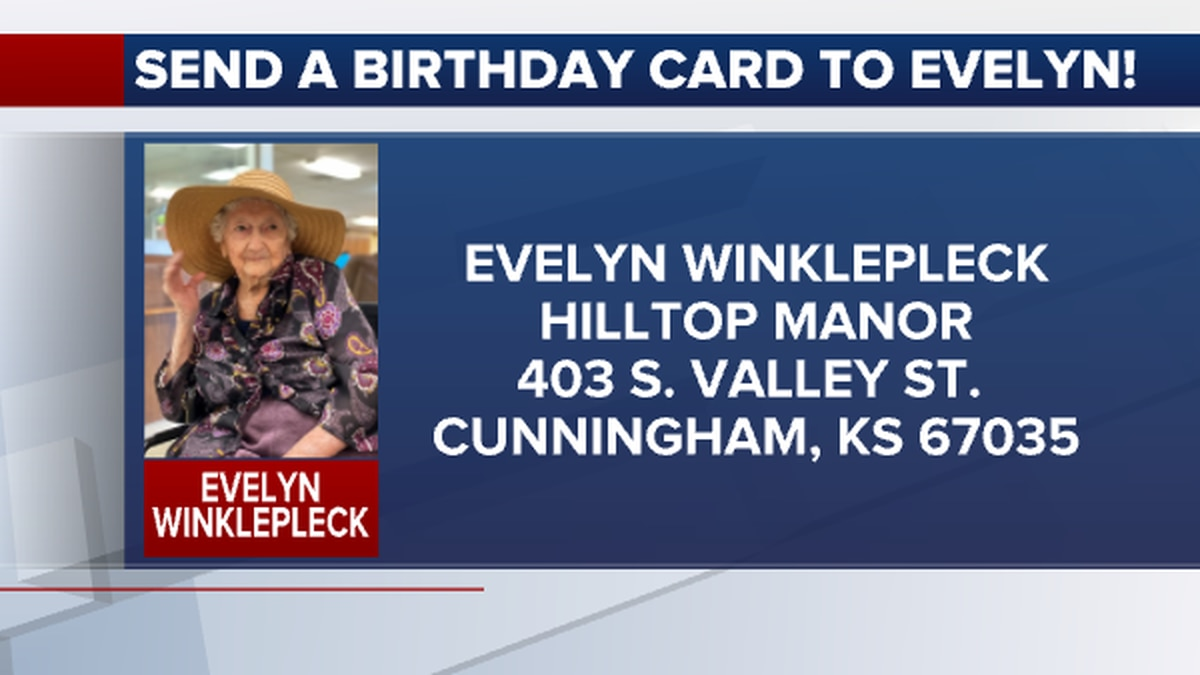A woman turning 101-years-old is asking for 101 birthday cards.