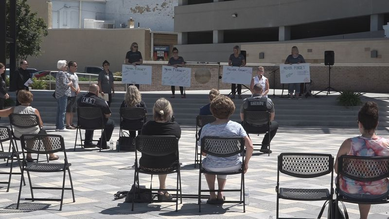 Never Forget Community Memorial held at Evergy Plaza. (June 12, 2021)