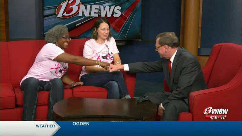 Tiffany and Shannon, both diagnosed, came to chat about the 5K run/walk.