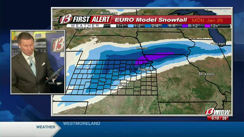 Snow likely on Monday