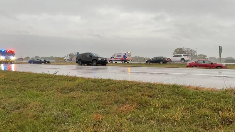 A crash near the junction of N.W. US-75 and N.W. US-24 highways north of Topeka sent at least...