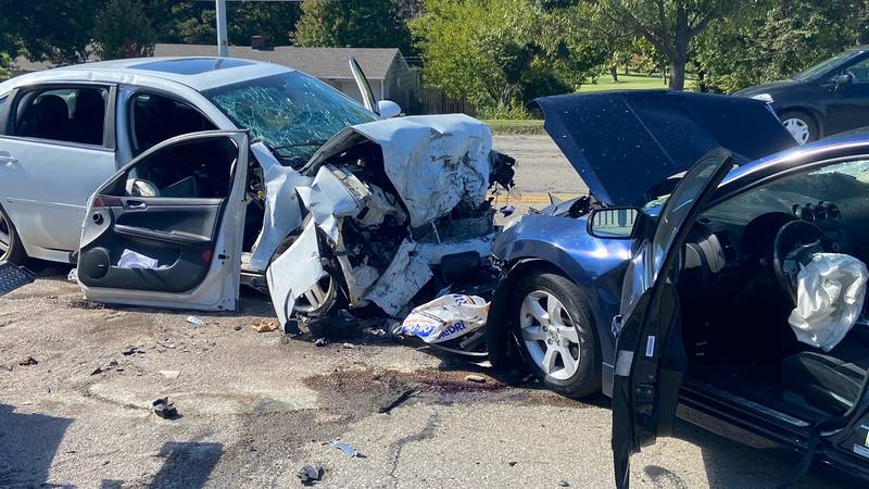Two vehicles collided head-on Friday morning near the 2700 block of SW Topeka Blvd.