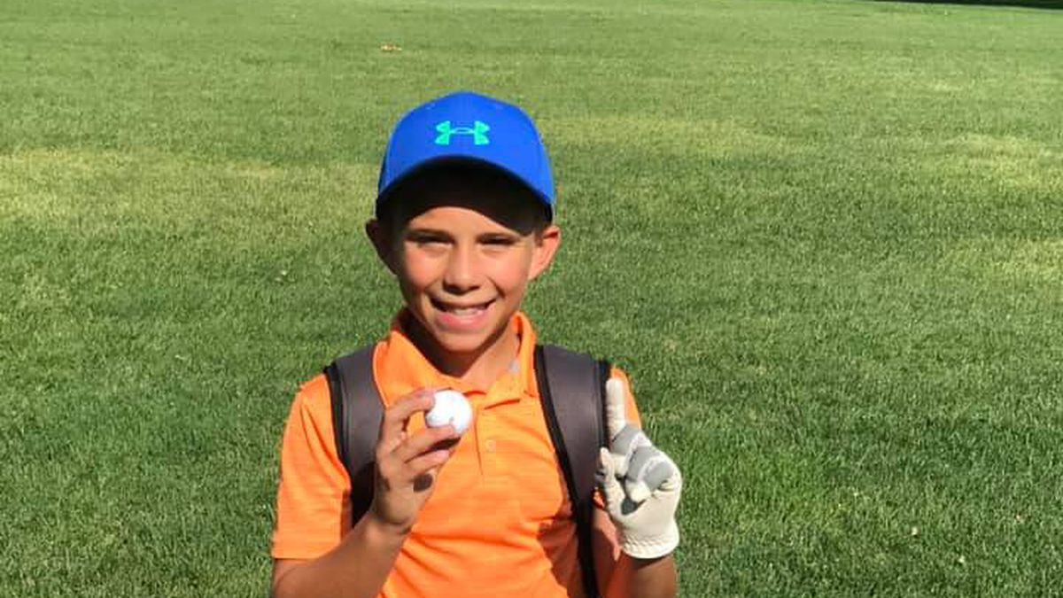 A Topeka 10-year-old has his sights set high after sinking his first-ever hole-in-one.