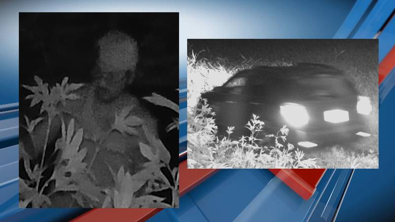 Jackson Co. officials released these images of a suspect and vehicle involved in a UTV theft.