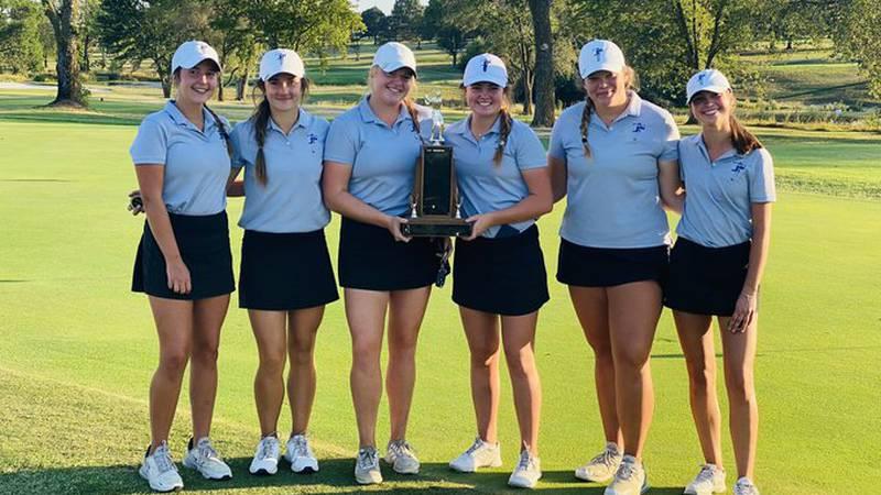 Washburn Rural's girls golf team won the Centennial League Championship on Monday, September...