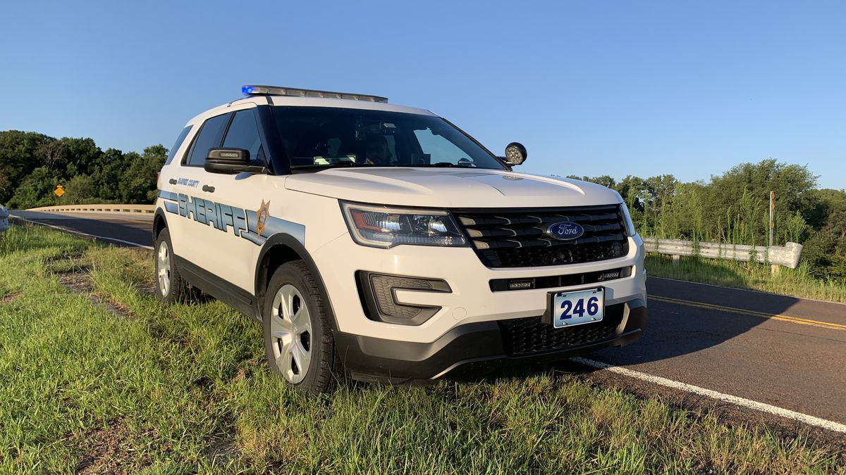 Two people were injured early Monday when the motorcycle they were on collided with a deer just northeast of Topeka, Shawnee County sheriff's officials said.