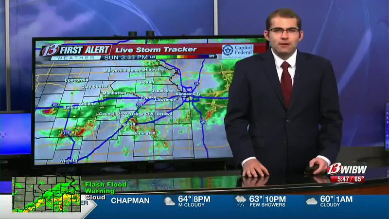 Rain Until Midnight with Lower Chances Tomorrow